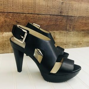 NWOT Micheal Kors strap leather platforms